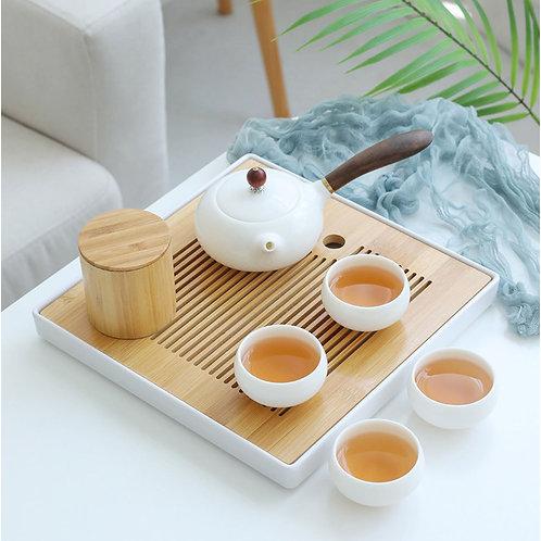 White Porcelain Gongfu Tea Ceremony Tea Set Kit