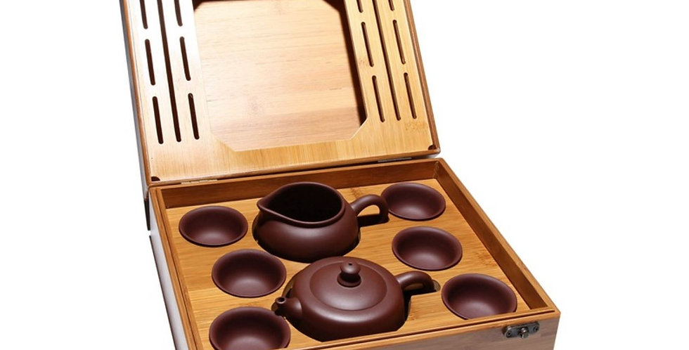 Portable Purple Clay Tea Set, High-end Tea Set Suite