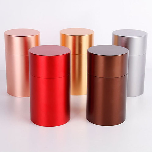 High-Class Aluminum alloy Canisters for Packing loose Tea.