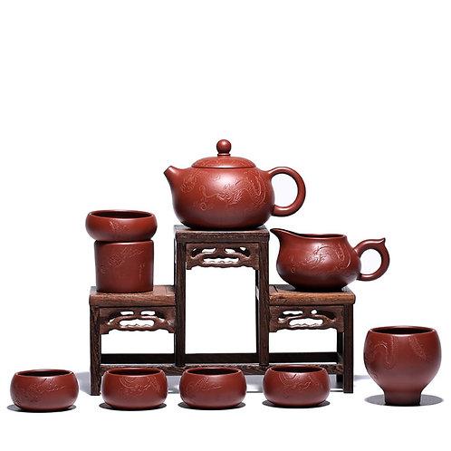 Purple Clay Tea Set Suite, Purple Clay Tea Set Wholesale from Artisan Workshop