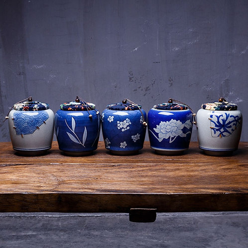 High-class Porcelain & Pottery Canisters for Storing up Loose Tea