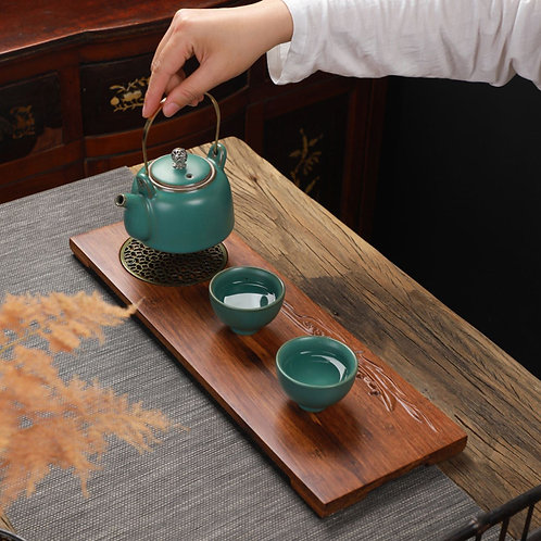 Vintage Weighty Bamboo Tea Tray/Tea Board, Chinese Tea Set Wholesale