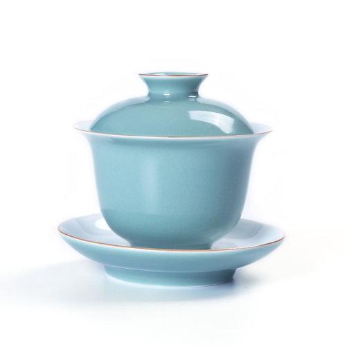 Single Color Glazed Porcelain Tea Set Suite, Chinese Tea Set Wholesa