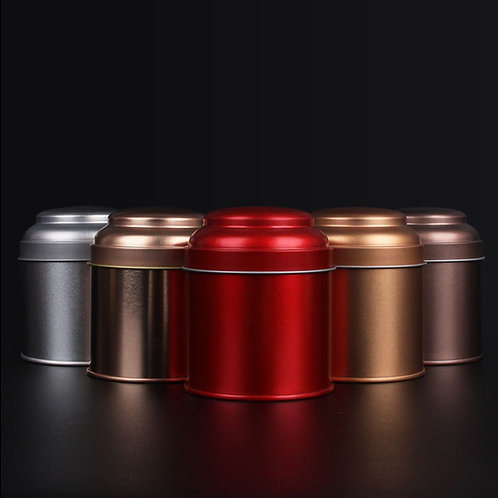 Round Tinplate Canisters for Packing loose Tea, Tea-Shop Package Material