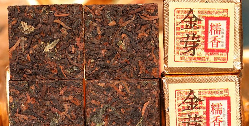 Pu-erh Mini Brick Tea,Gold Bud Sticky Rice Fragrant Mini Brick Tea