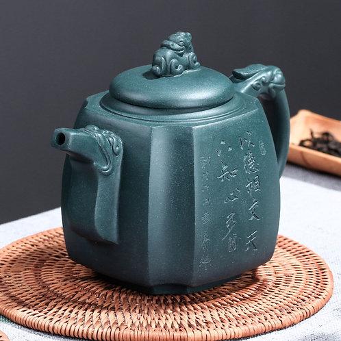 Vintage Square Teapot, Purple Clay Tea Set Wholesale from Artisan Workshop