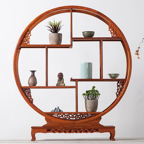 Wood Curio Shelves, Oriental & vintage tea-shop decoration