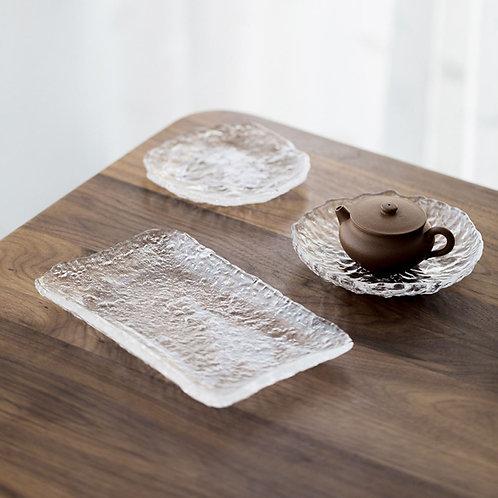 Glass Teapot Coasters,Chinese Tea Ceremony Tea Set Accessories