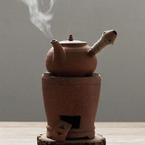 Red Mud Teakettle & Charcoal stove ,Chaoshan Gongfu Tea Ceremony Tea Set