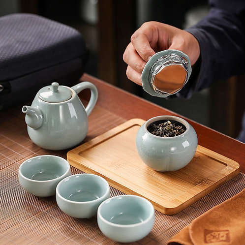 Ru Kiln Porcelain Tea-ceremony Tea Set Suite,Chinese Tea Set Wholesale
