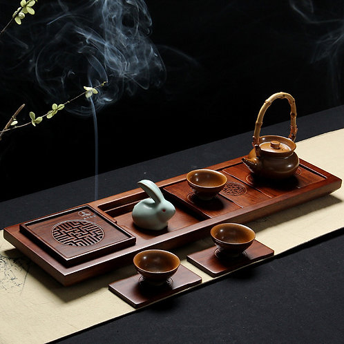 High-class Vintage Bamboo Tea Tray, Chinese Tea Set Wholesal