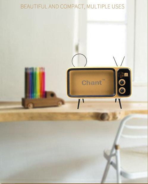 Retro TV Style Stand Holder/TV Bluetooth Speaker/mobile power bank