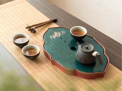 Vintage Coarse pottery Tea Boat, Chinese Tea Set Wholesale