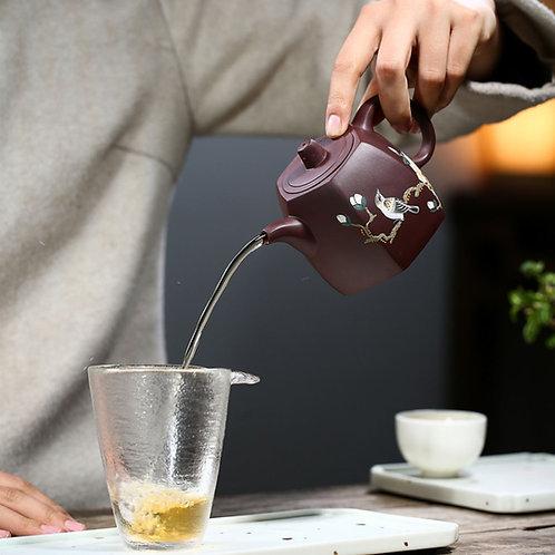 Classic Purple Clay Gongfu Teapot, Yixing Purple Clay Tea Set Wholesale