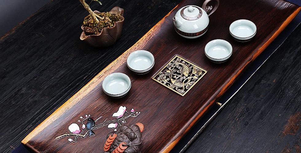 Large Size Handmade Wood Teaboard, Chinese Traditional Tea-ceremony Tea Set