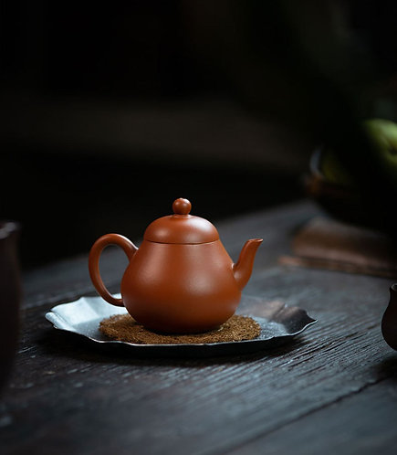 Premium Handmade Purple Clay Teapot/ Pear Shape Teapot