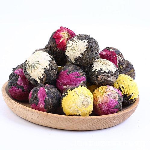 Pu'er Flower Pearl Unfermented Tea, Pu'er Handmade Tea Wholesale