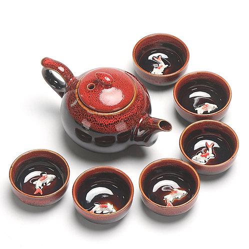 Jun Kiln Porcelain Tea-ceremony Tea Set Suite,Chinese Tea Set Wholesale
