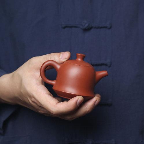 Red Clay Pulling Teapot, Chaoshan Gongfu Tea Ceremony handmade Tea Set