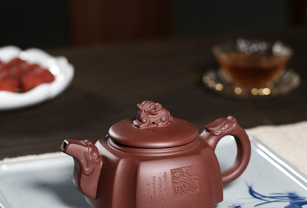 Dragon Head Teapot , Yixing Handmade Zisha Teapot With Certificate.‎