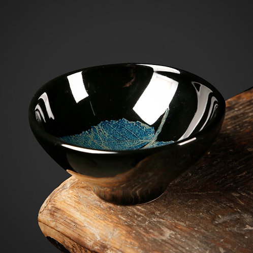 Jizhou kiln ceramic Wood-leaf Tianmu Handmade Tea Bowls