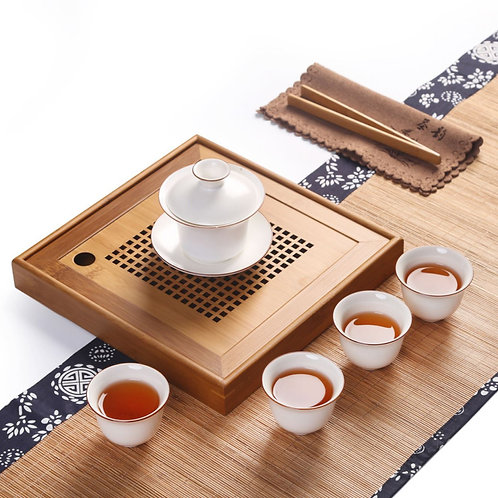 Vintage Bamboo Tea Tray, Chinese Tea Set Wholesale