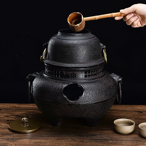 Cast Iron Charcoal stove ,Japanese Traditional Tea Ceremony Tea Set