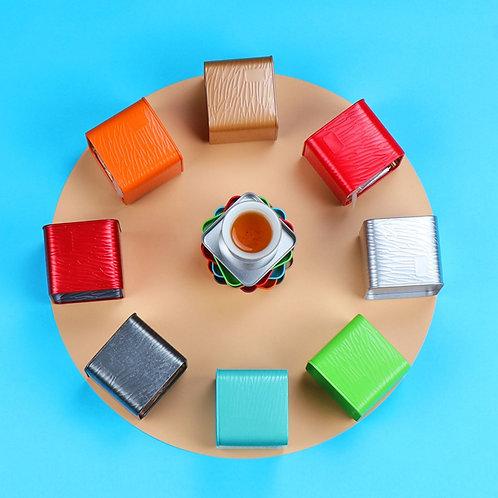 High-Class Mini Tinplate Tea Canisters, Tea-Shop Package Materials