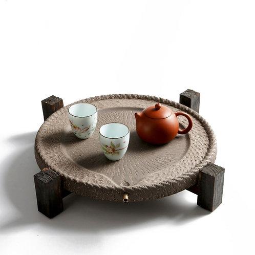 Vintage Crude Pottery Tea Tray, Chinese Tea Set Wholesale