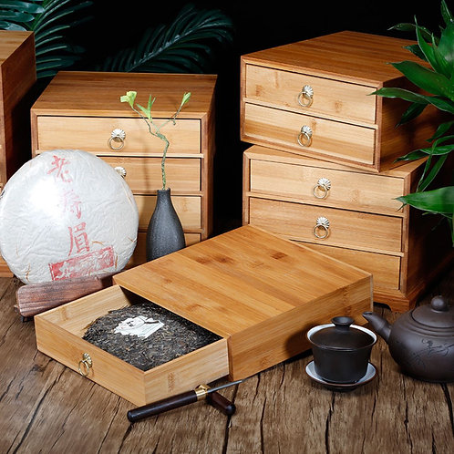 Bamboo Box for Storing Tea Cakes, Tea-Shop Package Material Wholesale