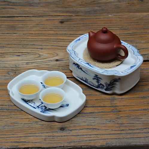 Vintage Blue and White Porcelain Tea Boat, Chinese Tea Set Wholesale