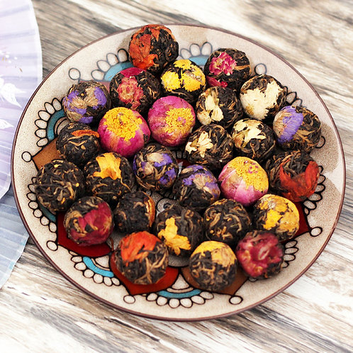 Yunnan Black Tea Flower Ball Tea, Chinese Herbal Tea Wholesale