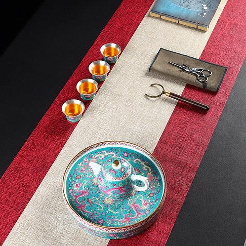 Waterproof Linen Tea Banquets,Chinese Tea Ceremony Teaset Accessories Wholesale