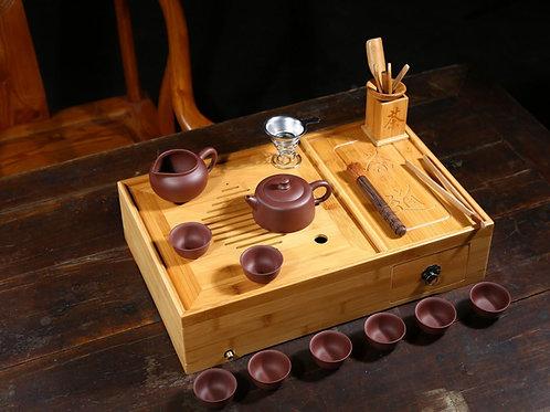 Portable Purple Clay Tea Set, Purple Clay Tea Set Wholesale