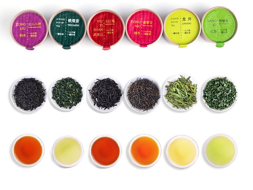 Small Tea Samplers-A (10 Chinese famous teas)