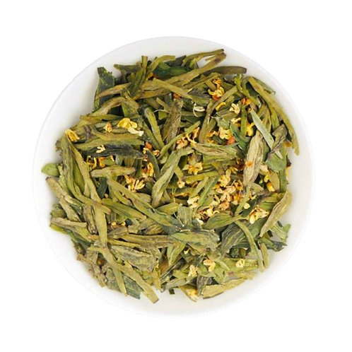 Osthmanthus Scented Long Jing Tea, Chinese Green Tea Wholesale