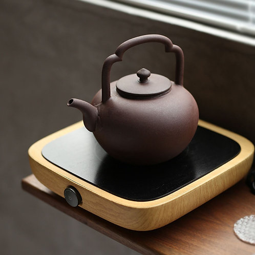 Vintage Clay Teakettle,Kettle for Heating Up Water for Gongfu Tea Ceremony