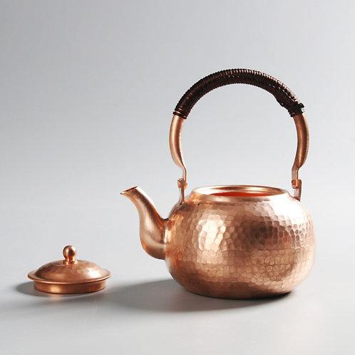 Vintage Handmade Copper Kettle,  Chinese Traditional Metal Tea Set