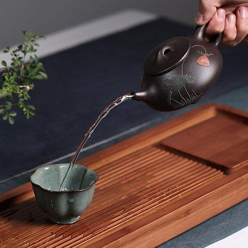 Shi Piao Teapot, Yixing Purple Clay Tea Set Wholesale from Artisan Workshop