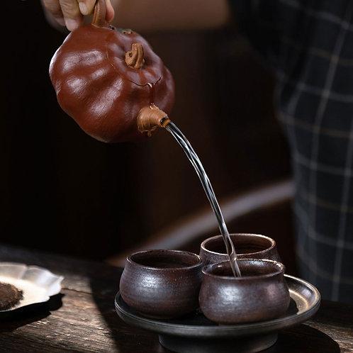 Vintage Purple Clay Gongfu Teapot,Purple Clay Tea Set Wholesale