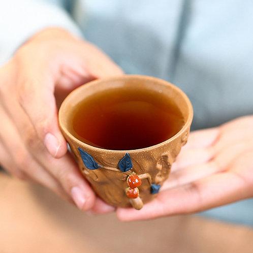 Vintage Purple Clay Gongfu Tea Cup/Gaiwan, Purple Clay Tea Set Wholesale