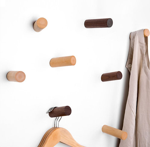 Wall Mounted Vintage Wooden Single Hanger
