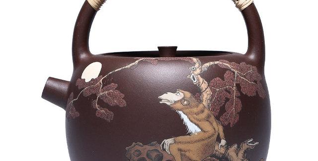 Handmade Purple Clay Kettle Of Boiling Water, Yixing Zisha Tea Set