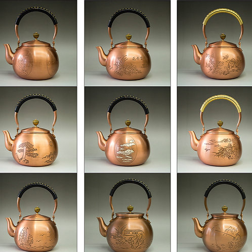 Vintage Handmade Copper Kettle,  Chinese Traditional Metal Tea Set Wholesale