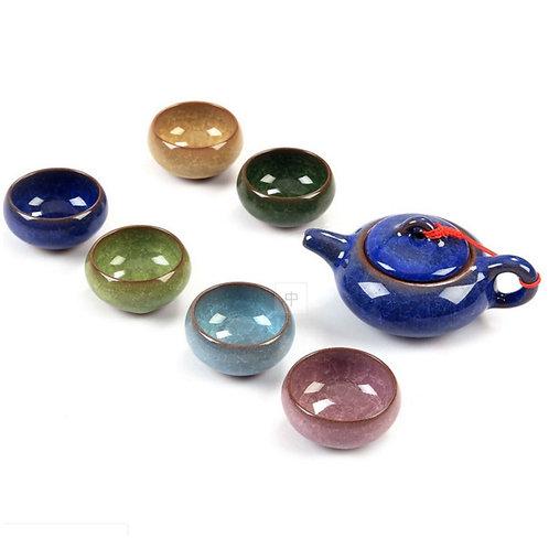Ice Cracked Glaze Porcelain Tea Set Suite, Chinese Tea Set Wholesale