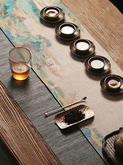 Vintage Cloth Tea Mat,Chinese Tea Ceremony Tea Set Accessories Wholesale
