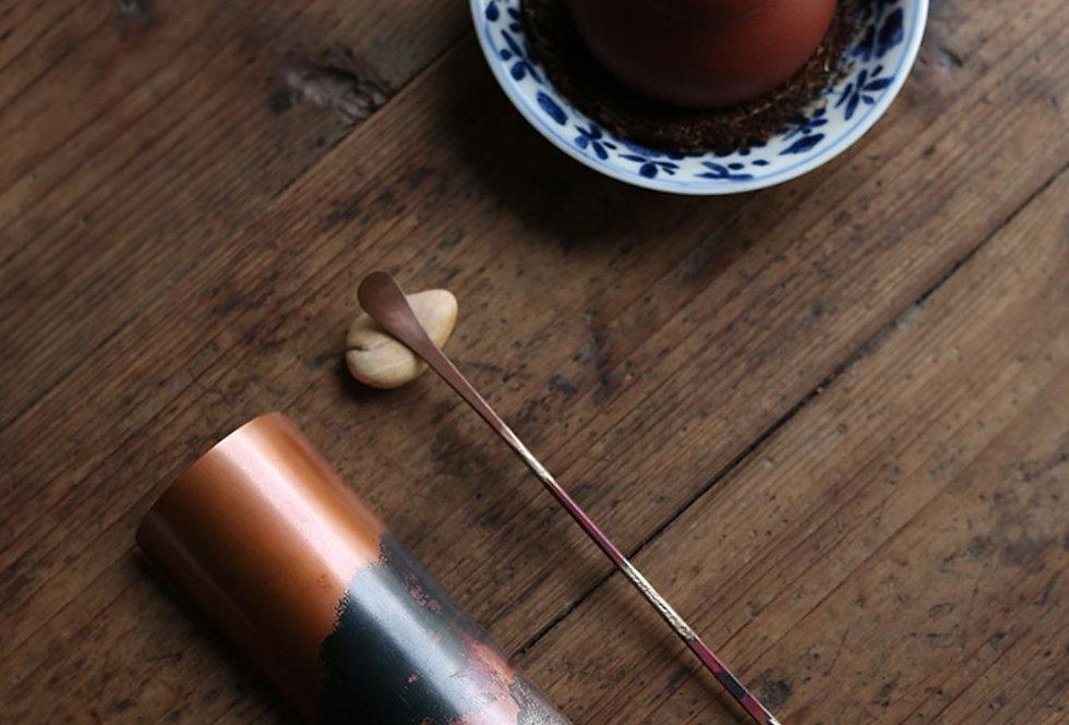 Red Copper & Silvering Tea 2 Gentlemen, High-end Handmade Tea-set Accessory