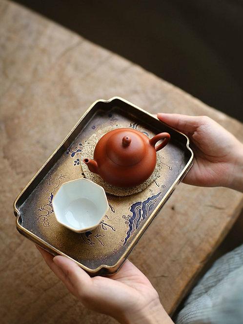 Vintage BrassTeapot Coasters,Chinese Tea Ceremony Tea Set Accessory