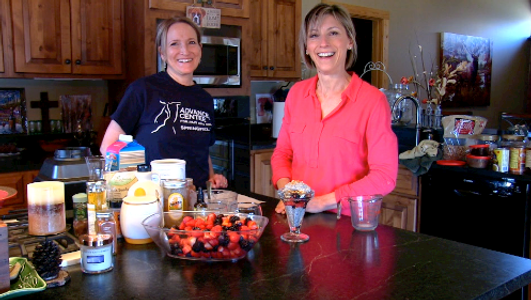 Follow Amy Venturini and Dee Dee Opfer on Advanced Center For Pain And Rehab's YouTube channel for healthy and delicious recipes.