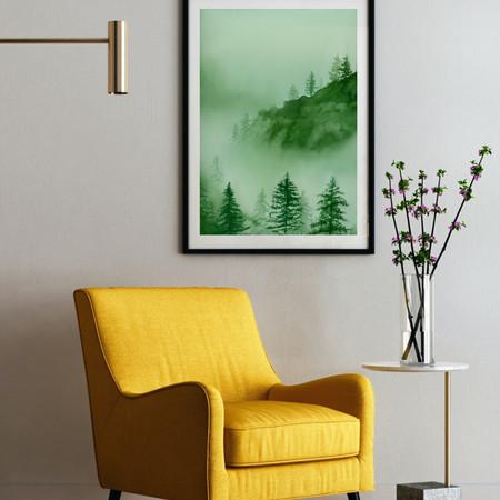 Watercolour Misty Mountains